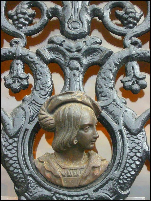 Abélard (détail de porte en fer forgé)