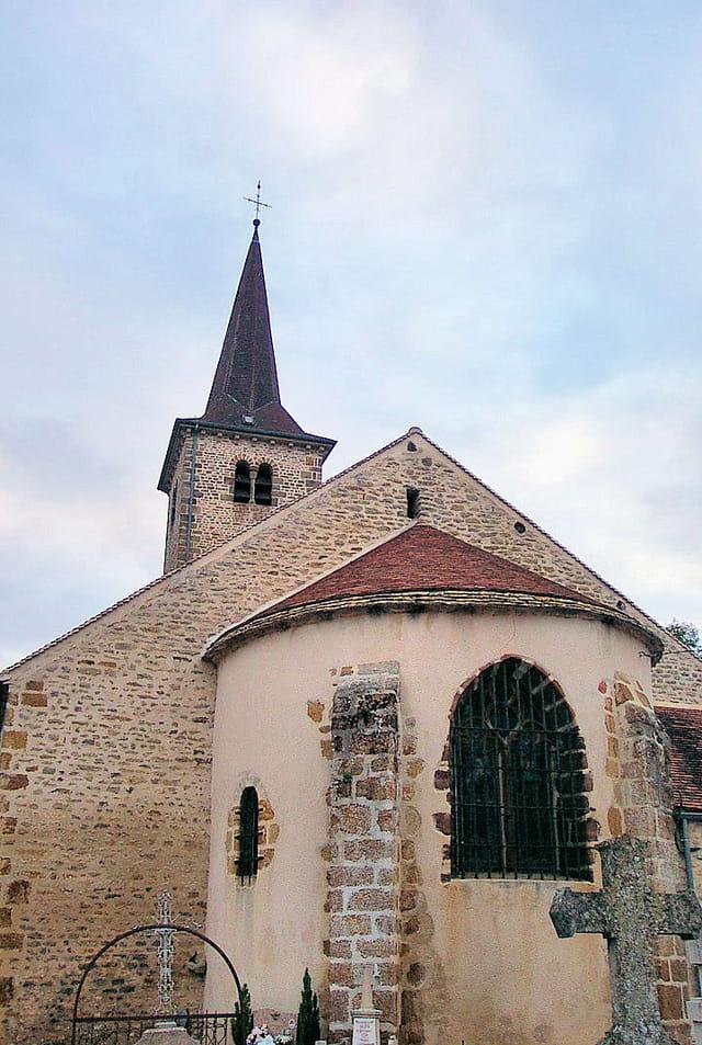 Abside de l'église de Sussey