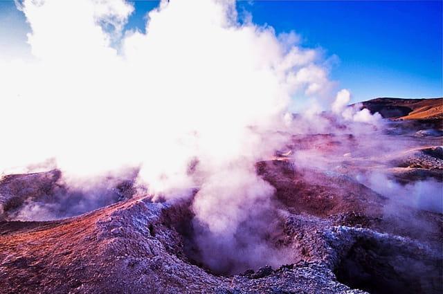 activité volcanique à 5000 mètres d'altitude
