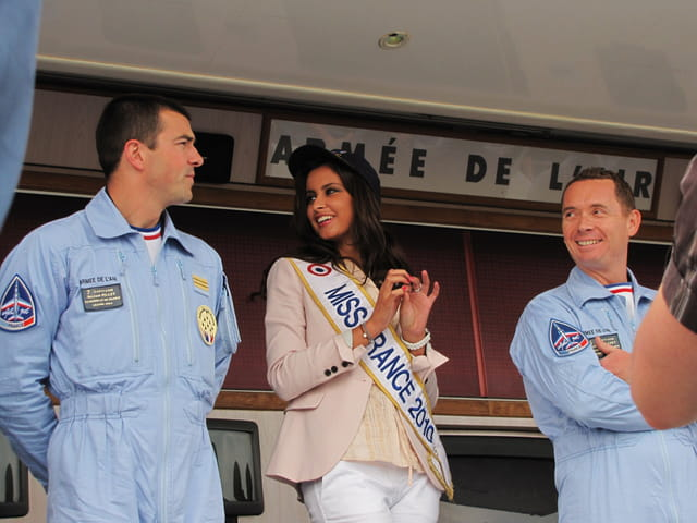 Airexpo - MURET - Patrouille de France et Miss France 2010.