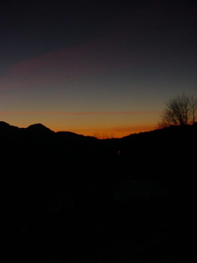 Alpes au soleil couchant