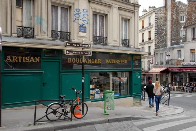 Angle de la rue Piat et de la rue de Belleville