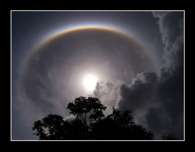 Anneau solaire en Guyane