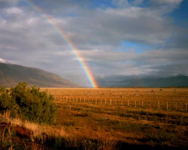 Arc en ciel en Patagonie
