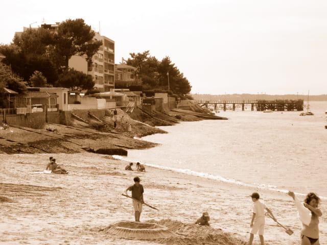 Arcachon plage d'antan