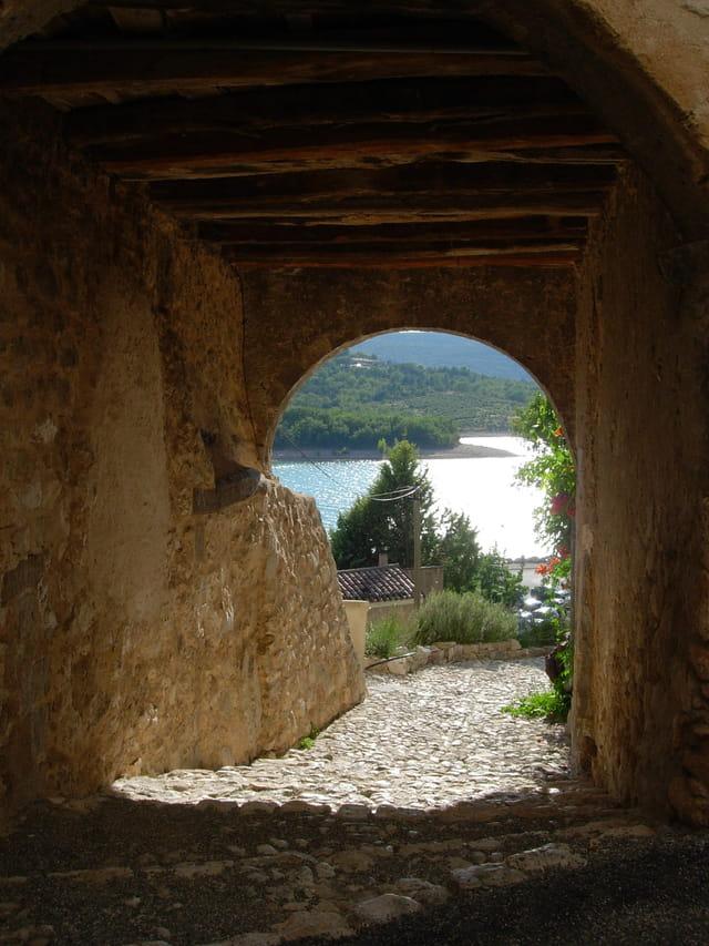 Arche vue sur le lac Ste Croix