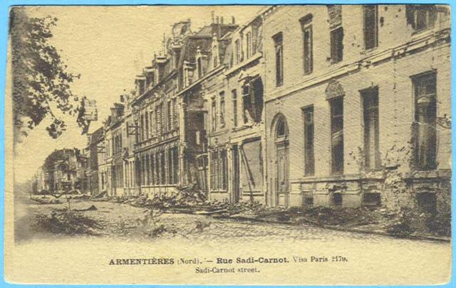Armentières - Rue Sadi-Carnot - Ruines 1914
