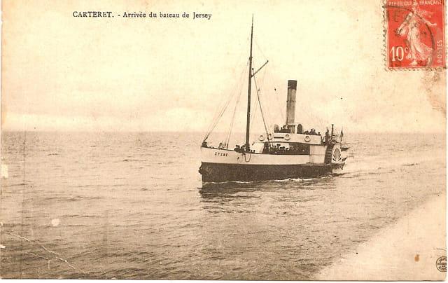 arrivée du bateau de Jersey