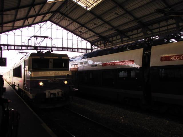 Arrivée en gare de Tarbes.