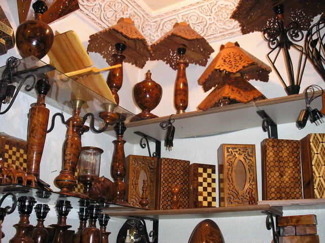 Artisanat marocain : bois