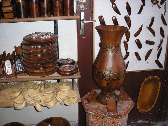 Artisanat marocain:bois