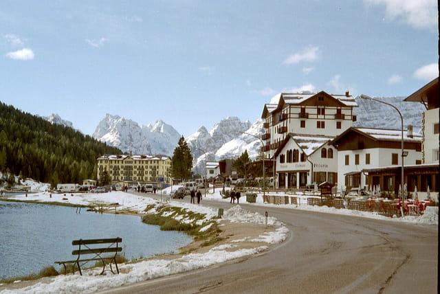 Au dessus de Cortina d'Ampezzo