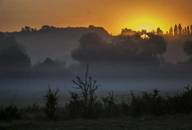 Au lever du soleil - Bocage Normand