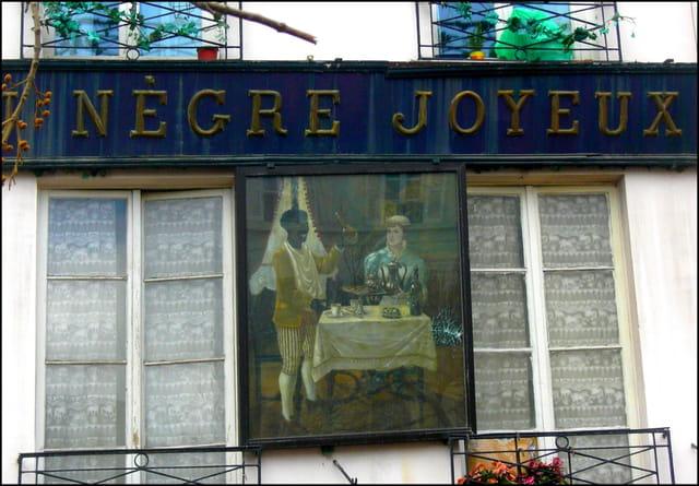 """""""Au Nègre joyeux"""" (Enseigne)"""