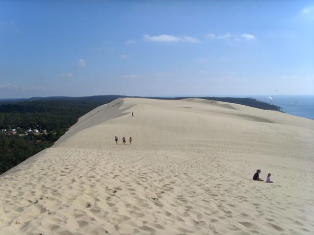 Au sommet de la dune du pyla !