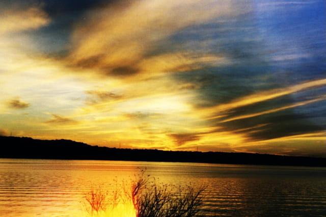 Austin lake au crépuscule
