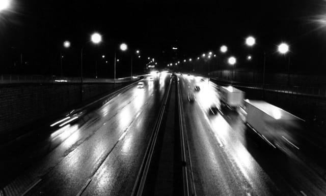 Autoroute une nuit
