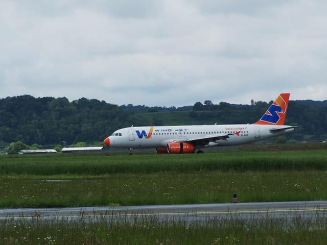 Avion de ligne - Airbus A 320 - Wind Jet.