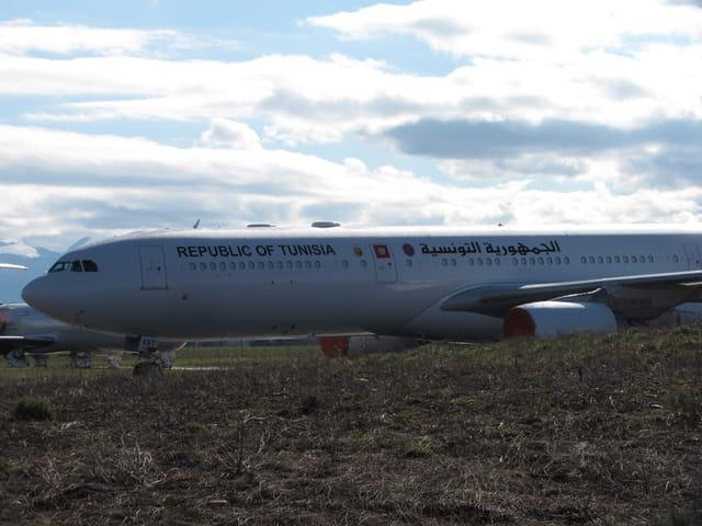 Avion de ligne Airbus A 340-600 - Republic of Tunisia.
