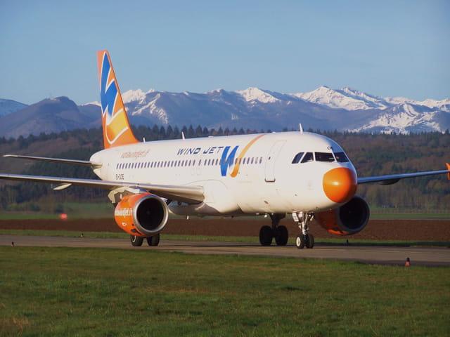 Avion de ligne Airbus A320 - Cie Windjet.