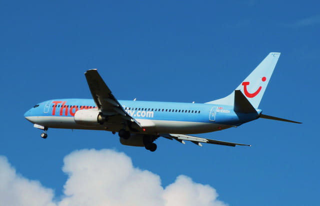 Avion de ligne Boeing 737 - Thomson Fly.