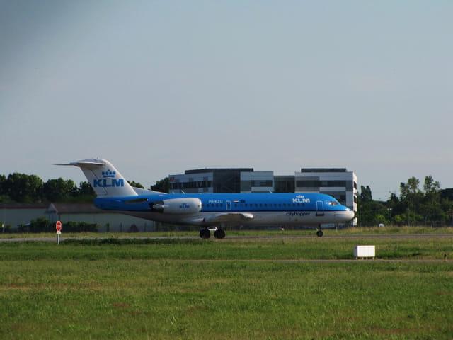 Avion de ligne Fokker - KLM.