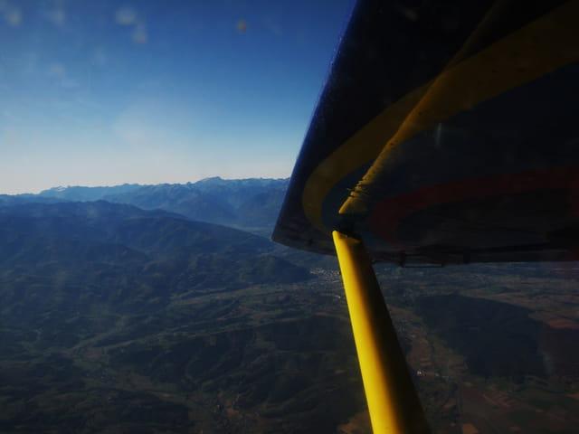 Avion de ligne - Mon vol au-dessus du piémont pyrénéen.