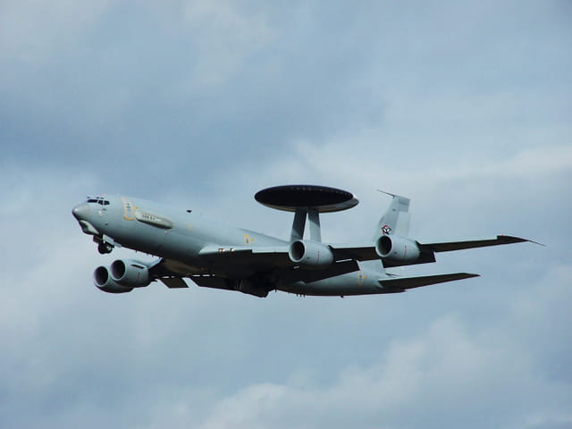 Avion militaire - Boeing E 3F - Awacs - French air Force.