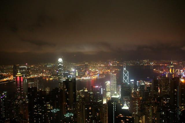 Baie de Hong Kong du peak Victoria