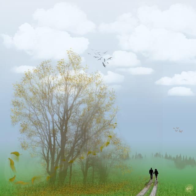 Ballade sur le chemin de l'automne