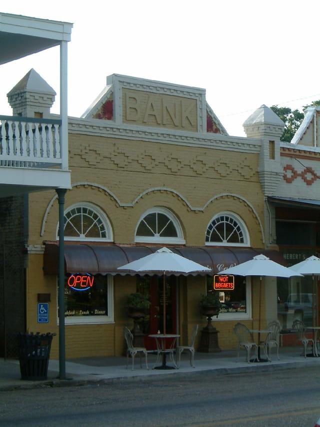 Banque vendant des beignets