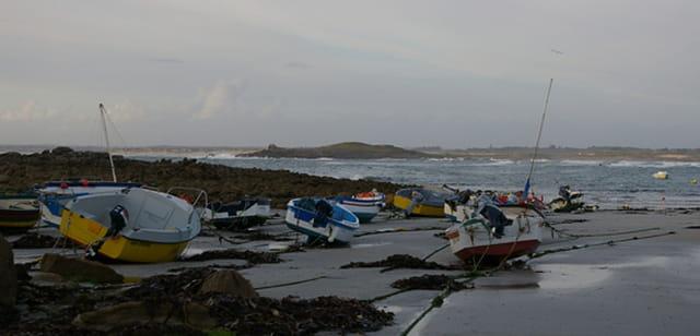 Barques à marée basse
