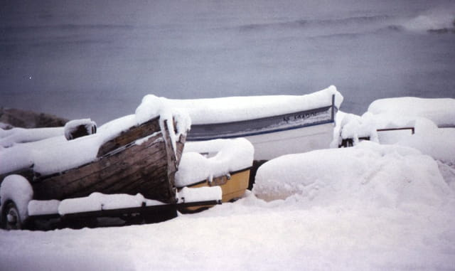 Barques neige