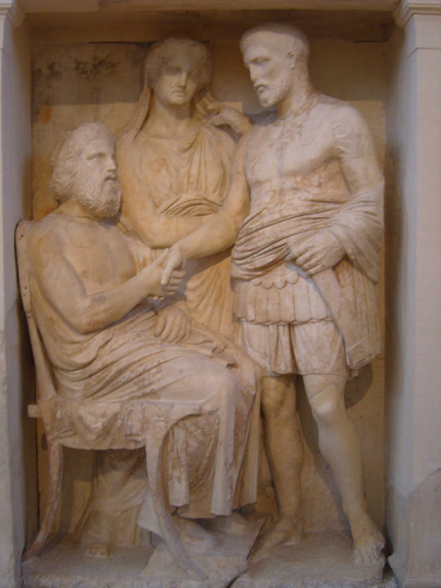 Bas-relief d'une tombe