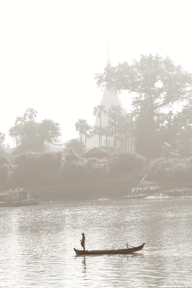 Bateau dans la brume...