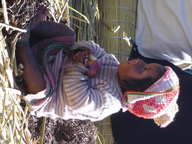 Bebe au titicaca
