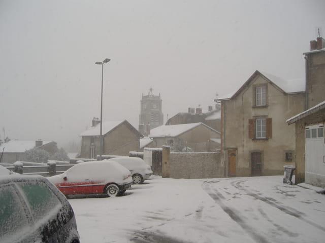 Bellac sous la neige