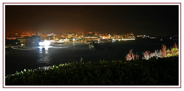 Biarritz, la nuit