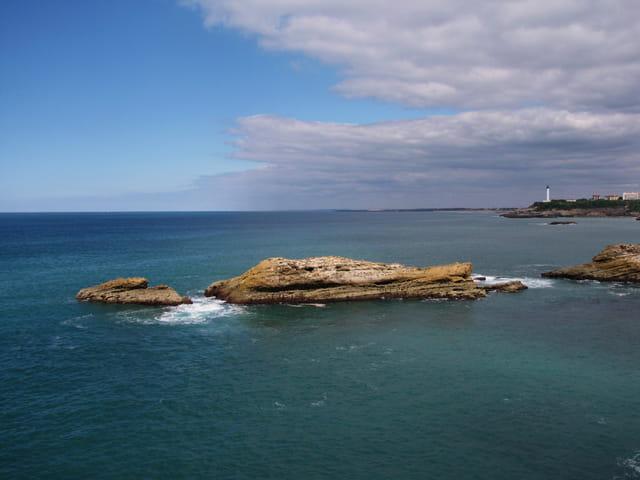 Biarritz - Vue du rocher de la vierge.