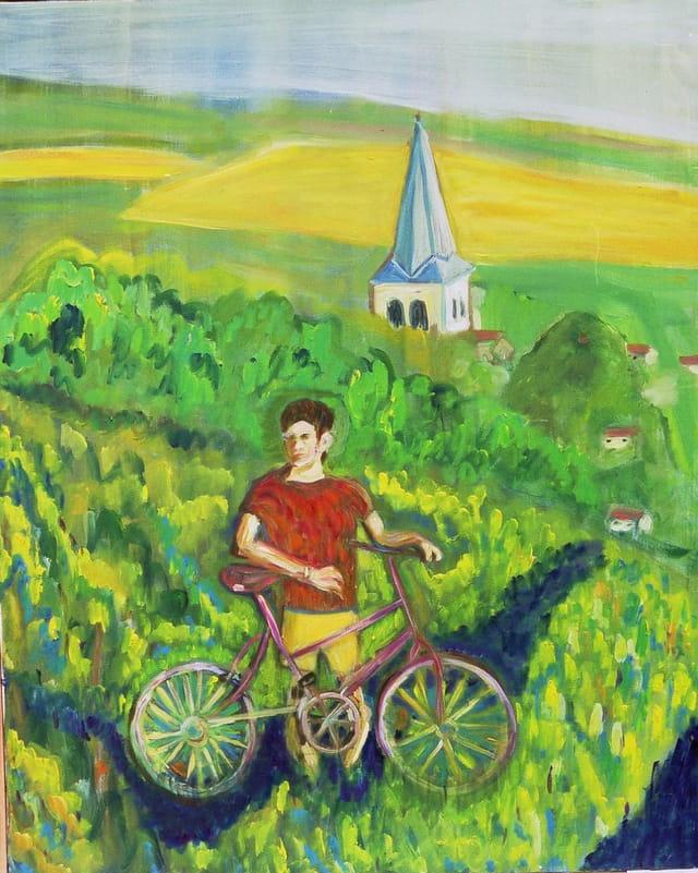 Bicyclette dans la verdure