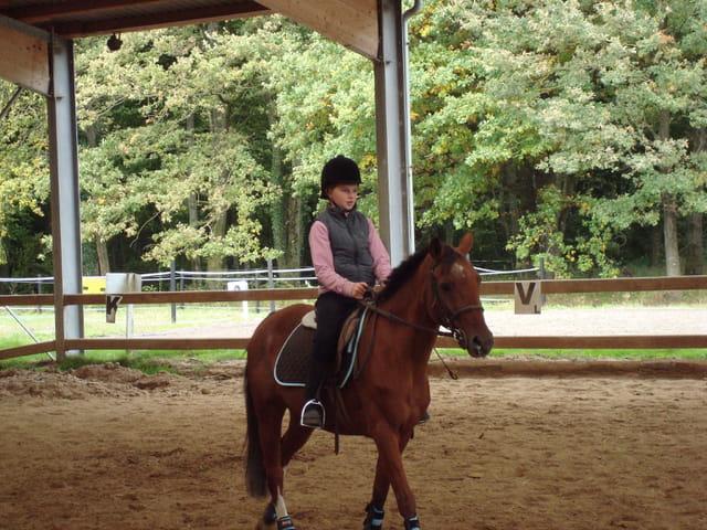 Biscotte et moi au concours de saut