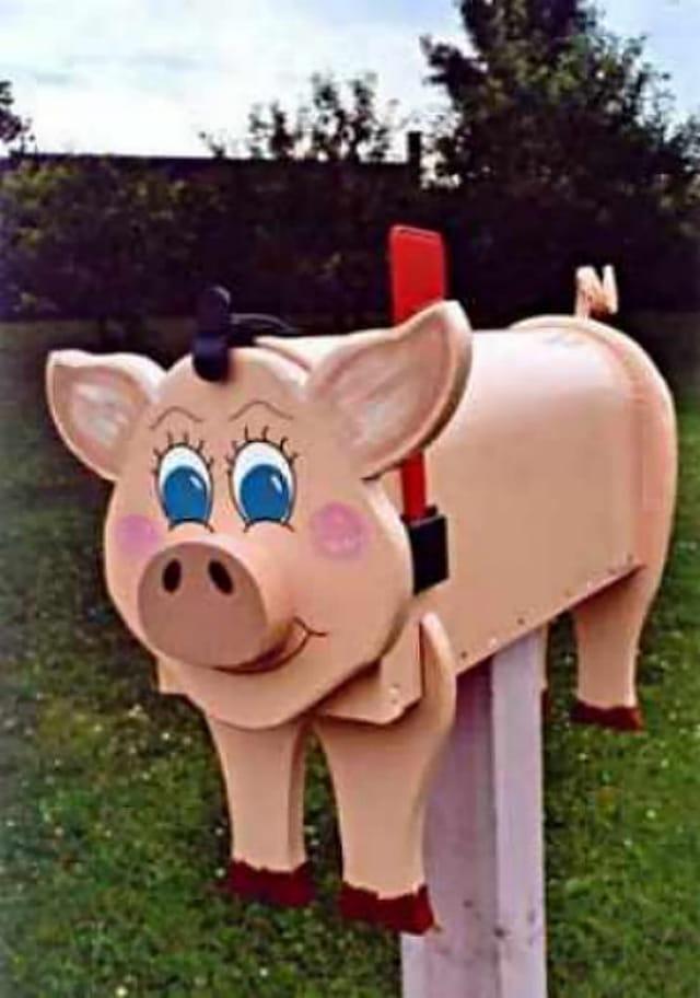 Boite aux lettres cochon