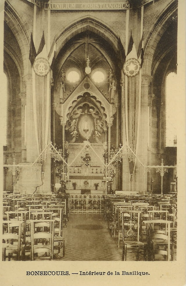 Bonsecours, intérieur de la basilique