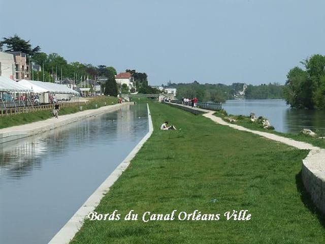 Bords du Canal centre ville d'Orléans