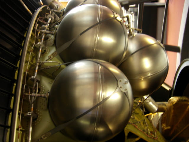 Boule de pétanque spatiales