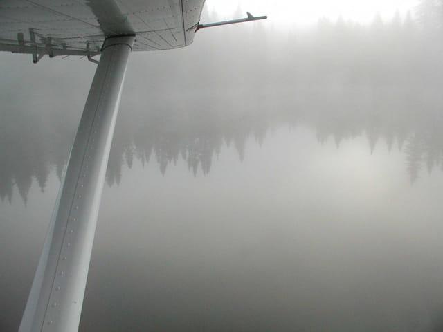 Brouillard au lac brûlé