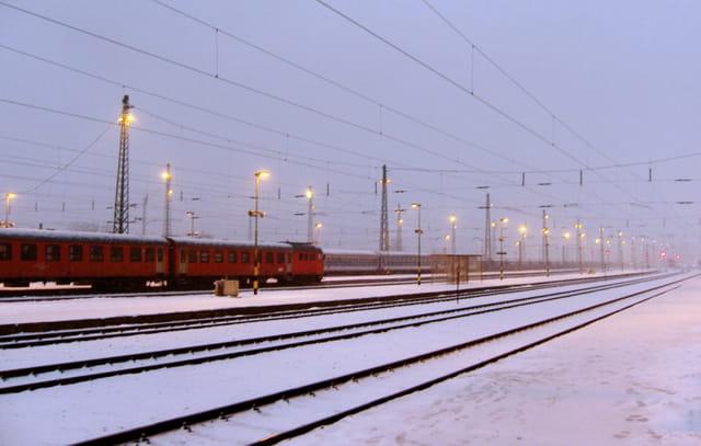 Brouillard sur la gare