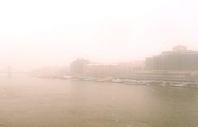 brouillard sur le Danube