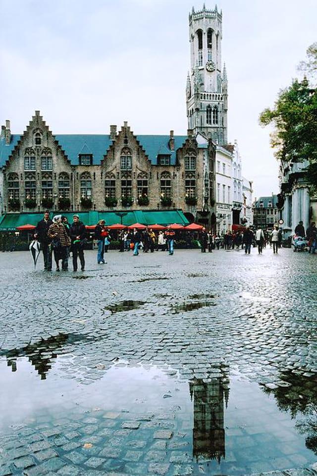 Bruges, le burg, le beffroi