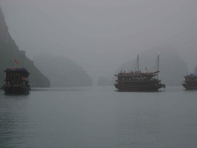 Brume matinale sur halong
